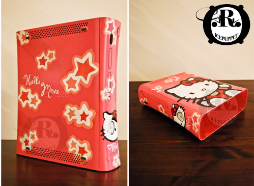 Tags: child xbox, cool xbox, design art, hello kitty, hello kitty design,