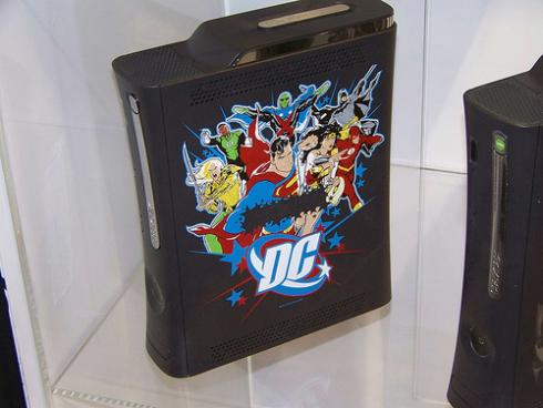 dc comics universe xbox 360 case mod