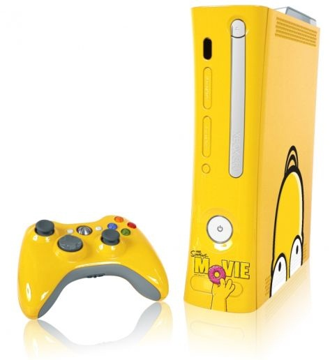 xbox 360 console the simpsons