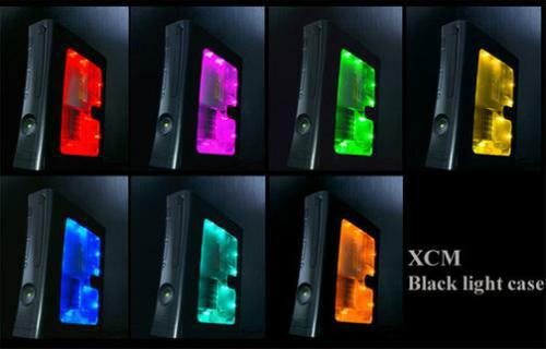 black led light xbox 360 case mod