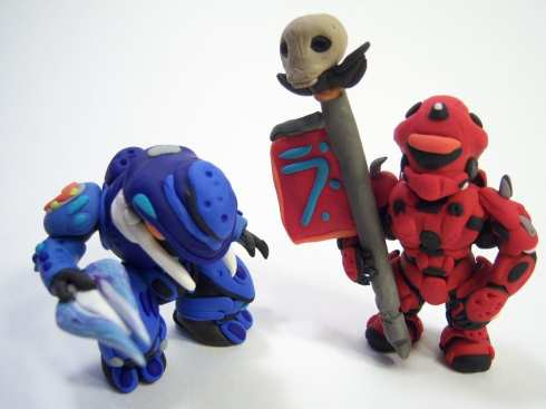 halo figures clay art