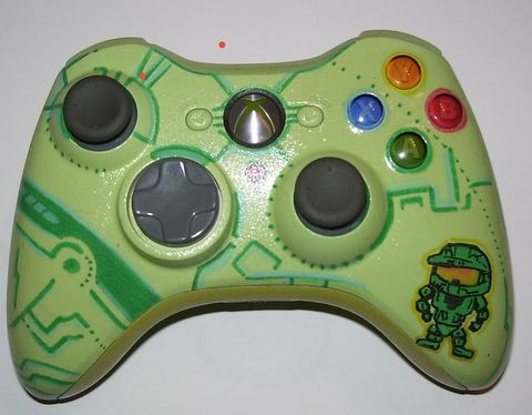 cool halo xbox 360 controller mod