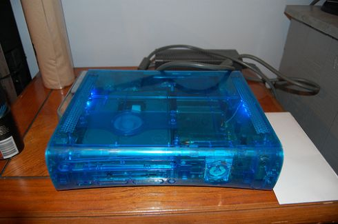 bright blue xbox 360 mod