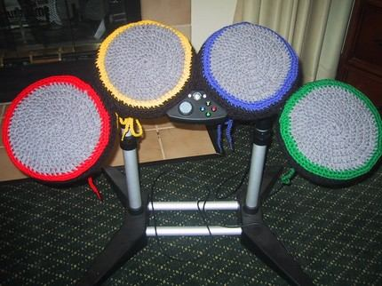 rock band drums cushions