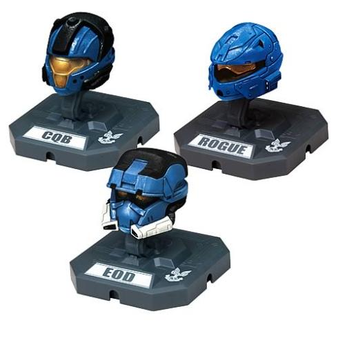 new halo miniatures characters helmets