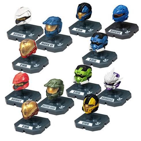 halo 2009 characters helmets