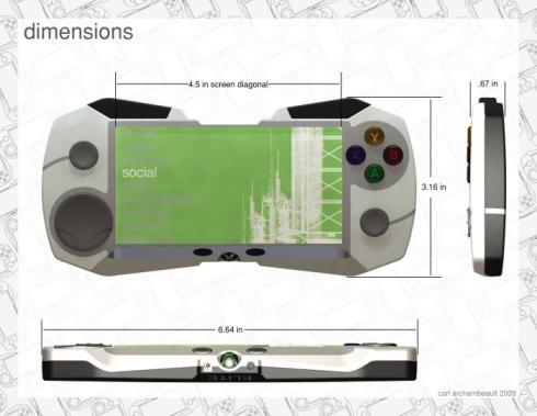 cool xbox handheld 1080 concept