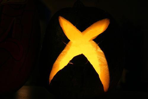 xbox 360 logo pumpkin