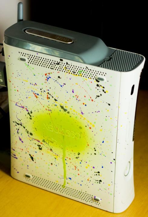 colorful xbox 360 console design