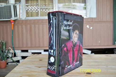 michael jackson xbox 360 case mod dedicated to the king of pop