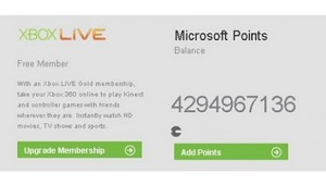 xbox live microsoft points error