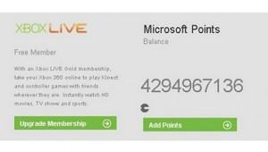 xbox live microsoft points error