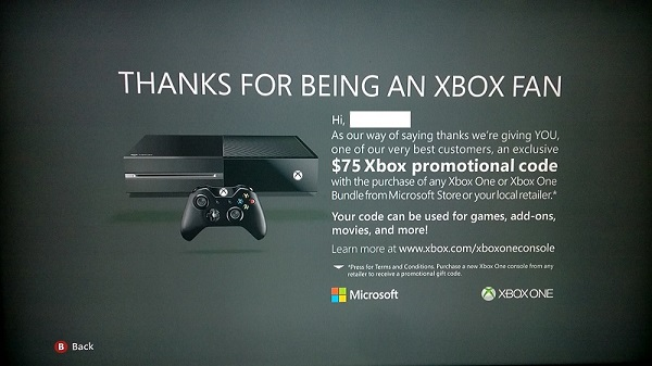 Xbox One Upgrade Offer