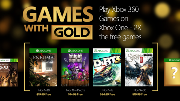 Xbox Live Games with Gold November 2015