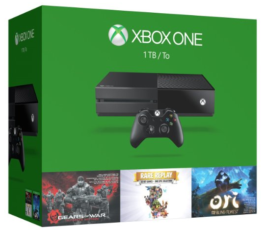 Xbox One 1TB Bundle 3 Games (Gears of War, Rare Replay, Ori and the Blind Forest)