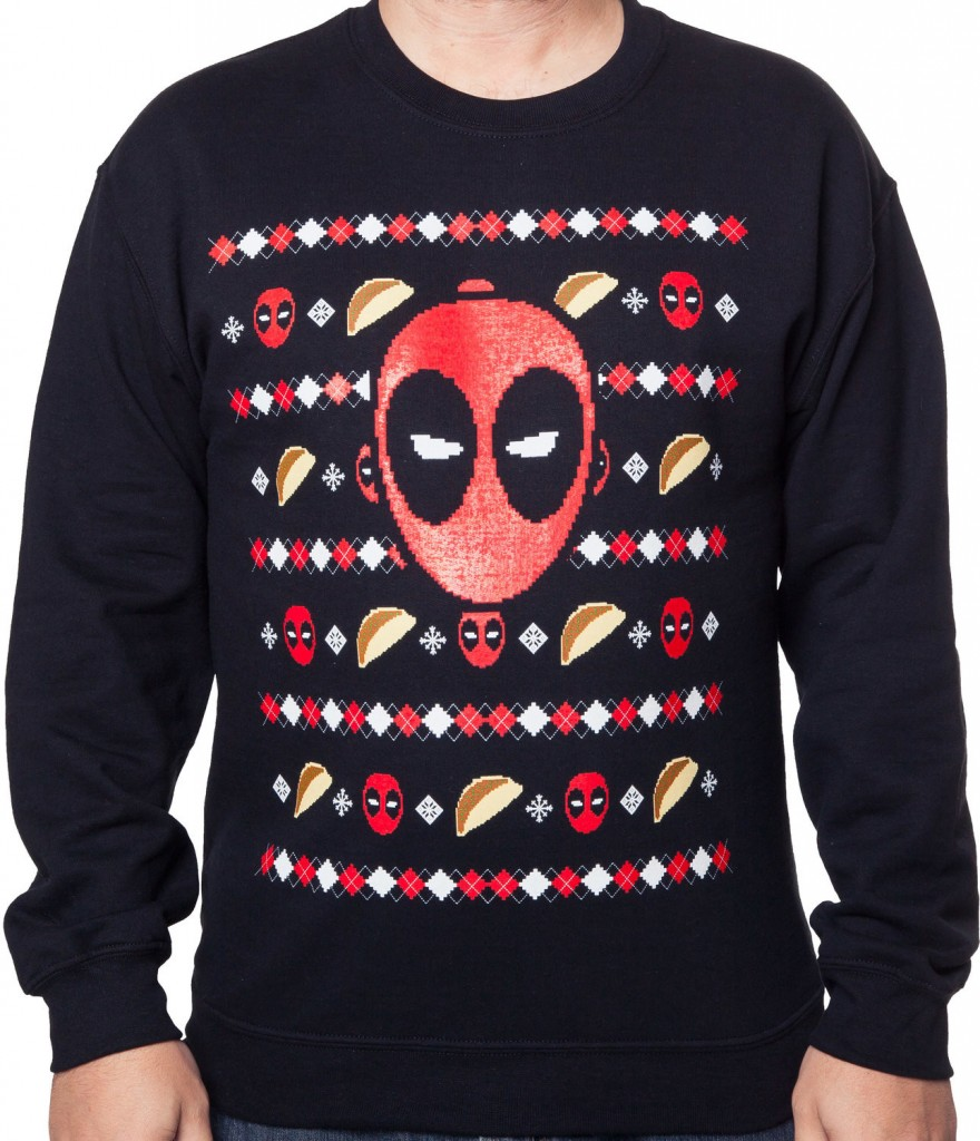 Ugly Christmas Sweater For Gamers Deadpool