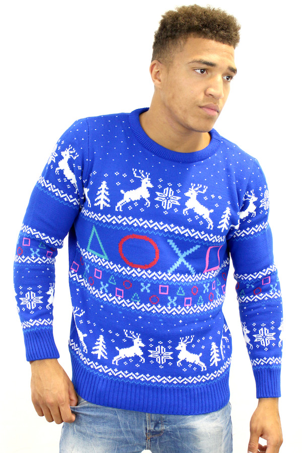 Ugly Christmas Sweater For Gamers PlayStation