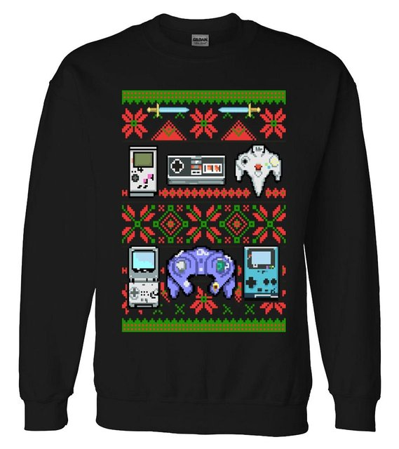 Ugly Christmas Sweater For Gamers Retro Gaming