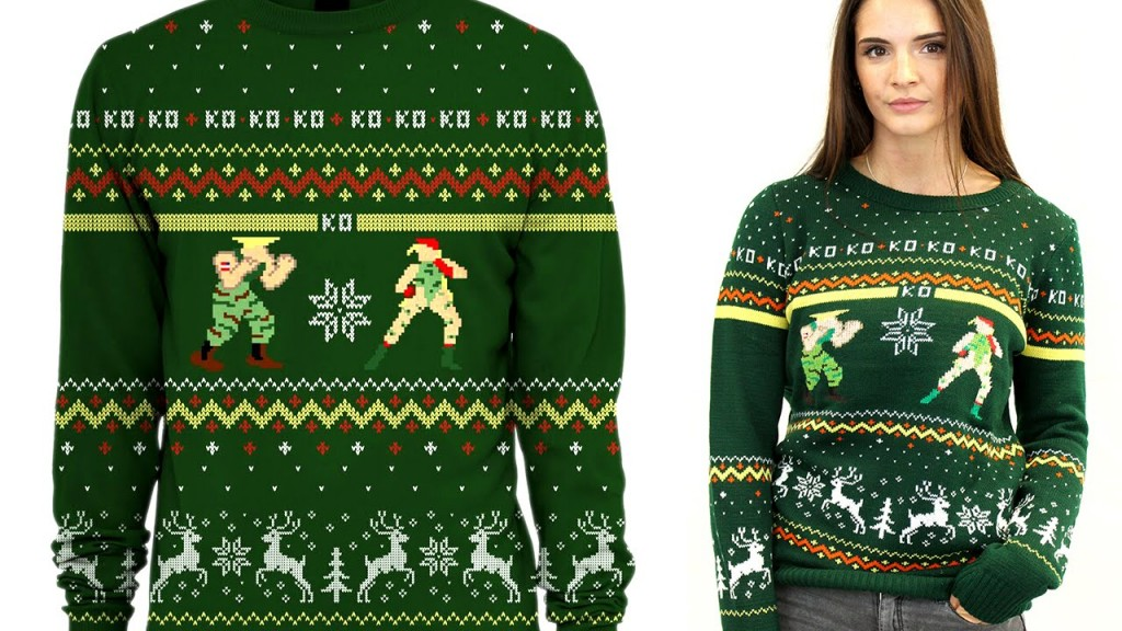 Ugly Christmas Sweater For Gamers Street Fighter