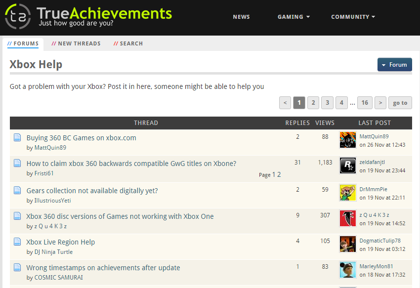 Xbox One Support & Troubleshooting True Achievements
