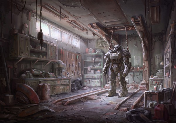Fallout 4 Garage Wallpaper