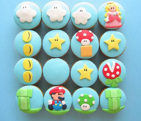 Super Mario Cupcake
