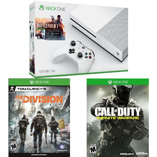 Xbox One S 500GB Battlefield 1, Call of Duty & The Division Bundle
