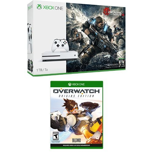 Xbox One S Gears of War 4 Overwatch Bundle