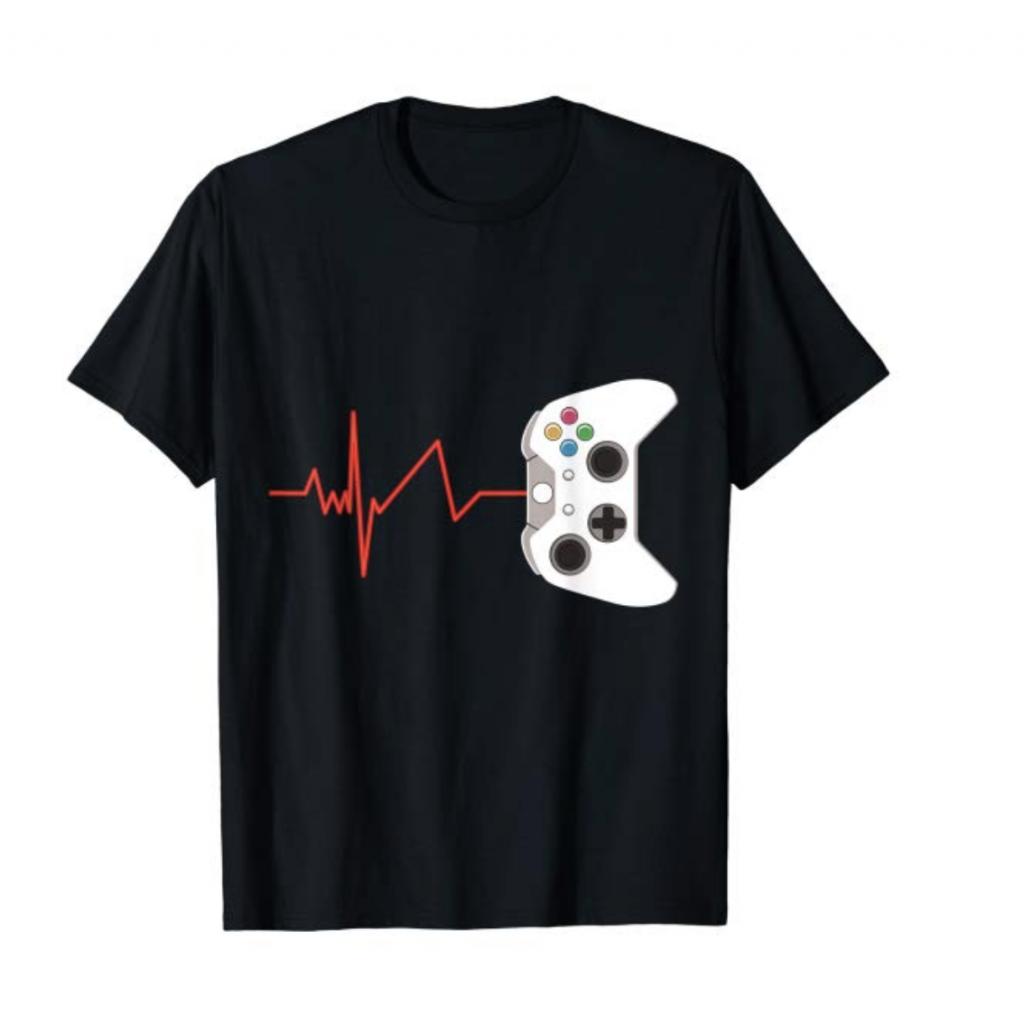 heartbeat video games shirt