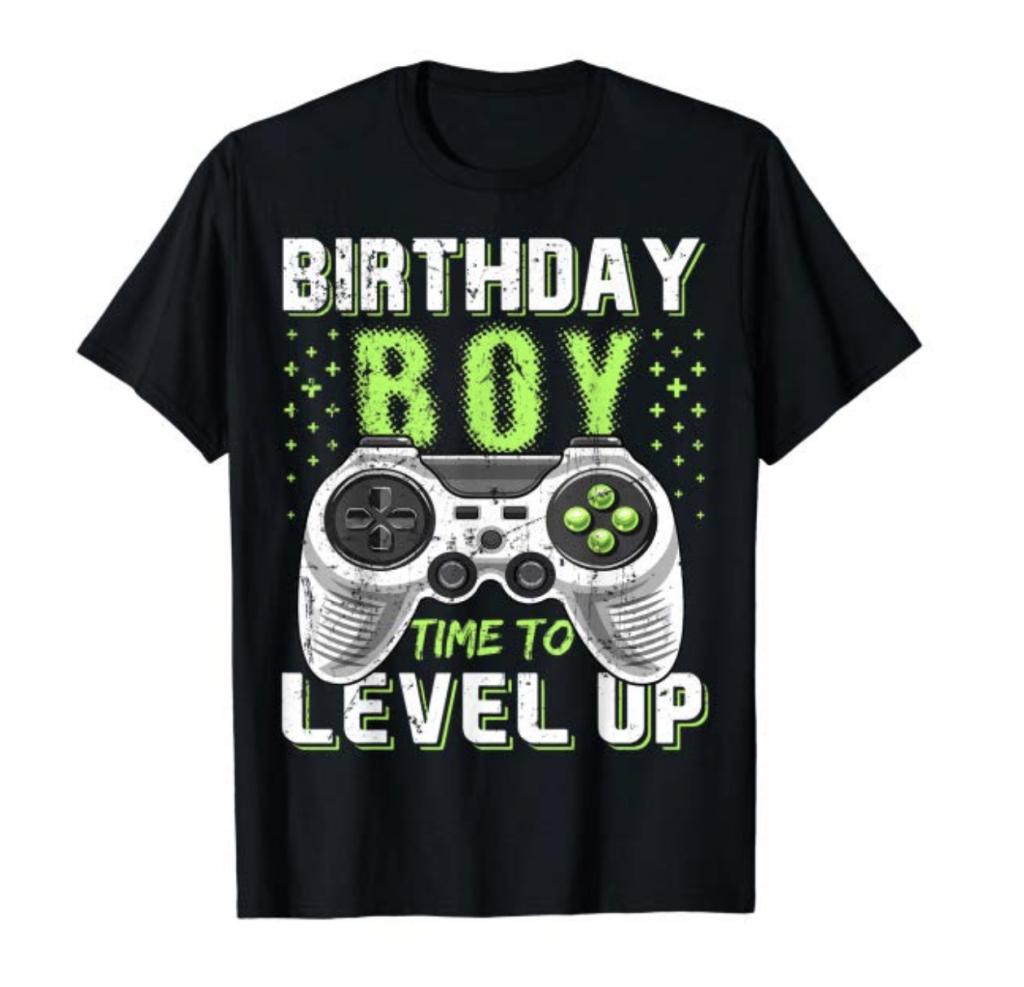 birthday boy shirt for gamers